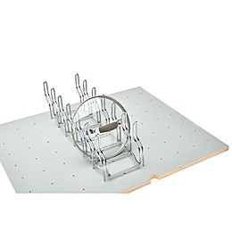 Rev-A-Shelf® Lid Organizer Rack for Drawer Peg Boards in Chrome