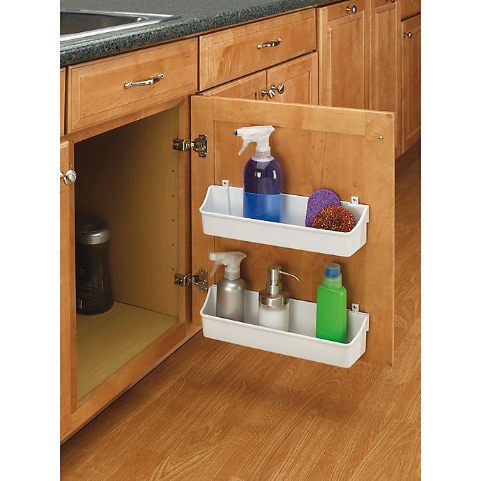Alternate image 1 for Rev-A-Shelf® 13.75-Inch Door Storage Trays in Almond (Set of 2)