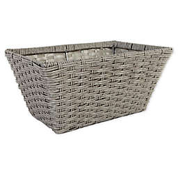 .ORG™ Large Poly-Rattan Tapered 14.5-Inch Storage Basket in Grey/Light Grey