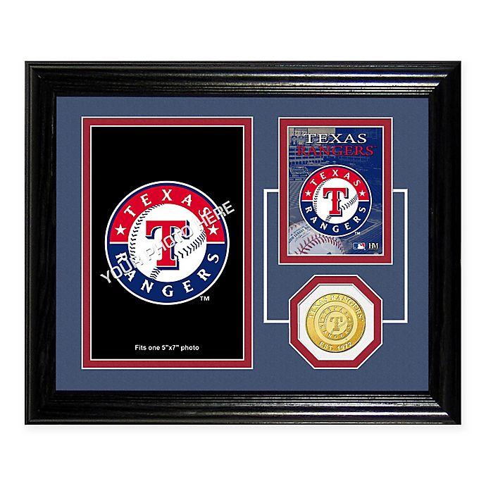 Texas Rangers Fan Memories Desktop Photo Mint Frame