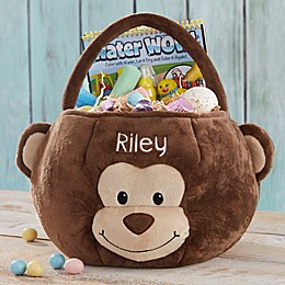 Monkey Embroidered Easter Treat Bag