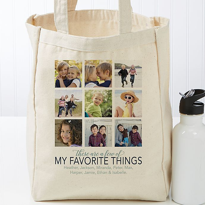 Alternate image 1 for My Favorite Things Personalized Canvas Tote Bag