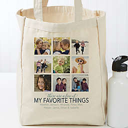 My Favorite Things Personalized Canvas Tote Bag