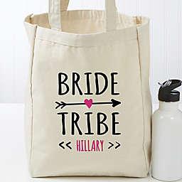 Bride Tribe Personalized Small Canvas Tote Bag