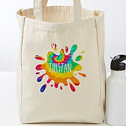 Tie-Dye Fun Personalized Small Canvas Beach Bag