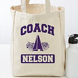 Coach Personalized Small Canvas Tote Bag