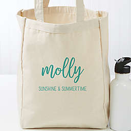 Scripty Style Personalized Canvas Beach Bag