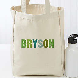 All Mine! Personalized Small Canvas Beach Bag