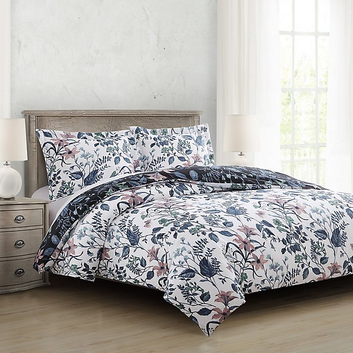 Alternate image 1 for Constance Reversible Full/Queen Comforter Set in Teal