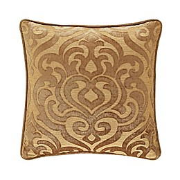 J. Queen New York™ Sicily Damask Square Throw Pillow in Gold
