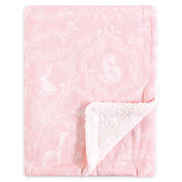 Yoga Sprout Lace Garden Minky Blanket with Sherpa Backing in Pink
