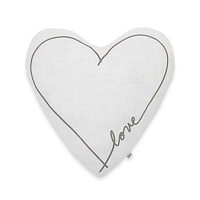 ED Ellen DeGeneres Painterly Floral Heart Throw Pillow in Pink
