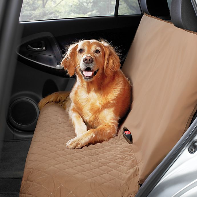 Alternate image 1 for Pawslife™ Bench Style Quilted Car Seat Cover in Tan