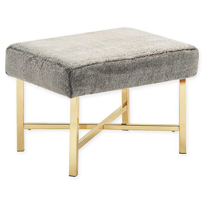 Alternate image 1 for Elle Décor® Polyester Upholstered Lennox Stool in Brown