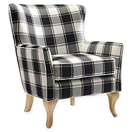 Linen Upholstered Dara Chair in Black/white