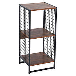 Household Essentials® 2 Cube Storage Wall Unit with Mesh Side Panels in Hickory