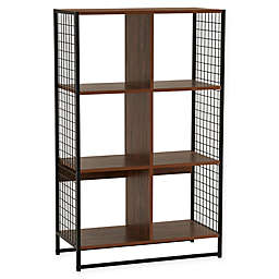 Household Essentials® 6-Cube Bookcase in Walnut/Black