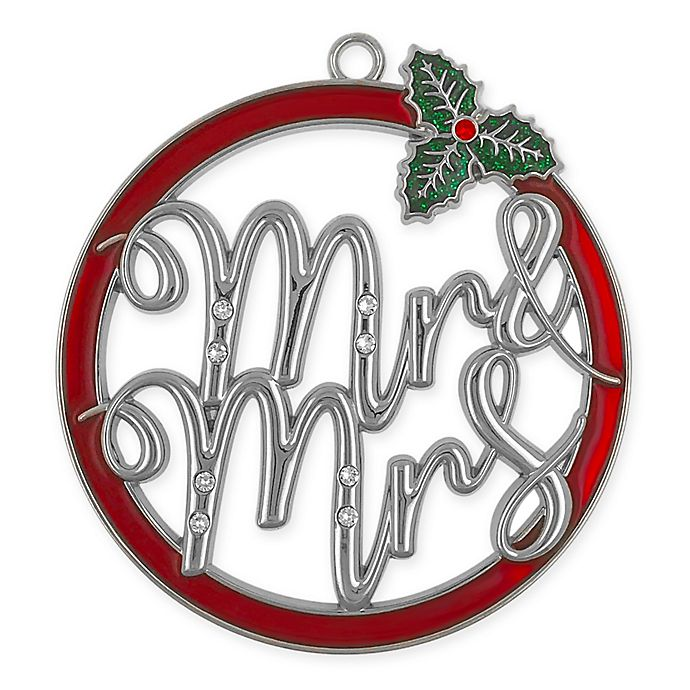 Alternate image 1 for Crystals from Swarovski® Harvey Lewis™ Mr & Mrs Christmas Ornament