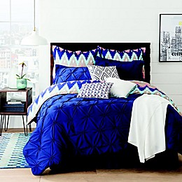 Aztec Reversible 10-Piece Comforter Set in Navy