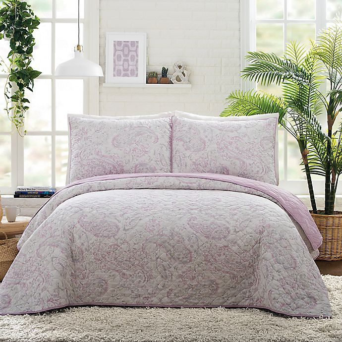 Alternate image 1 for Jessica Simpson Paisley Cloud Quilt Set