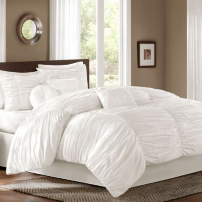 Sidney 6 7 Piece Comforter Set in White | Bed Bath & Beyond