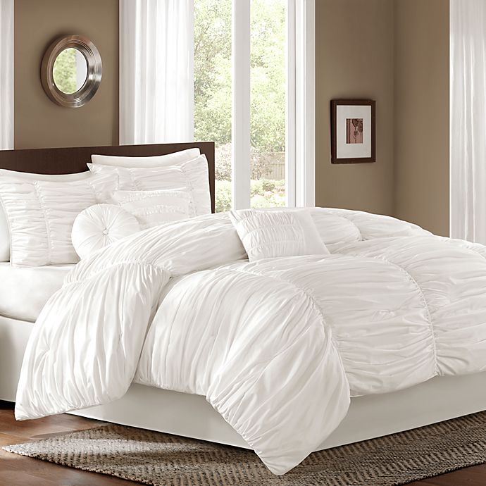 Alternate image 1 for Sidney 6-7-Piece Comforter Set in White
