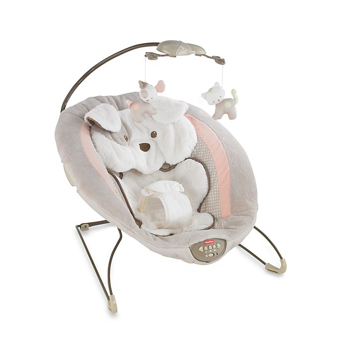 Alternate image 1 for Fisher-Price® My Little Snugapuppy Deluxe Bouncer