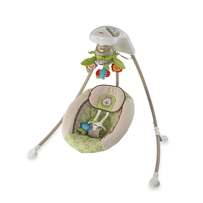 Fisher Price Rain Forest Friends Deluxe Cradle N Swing
