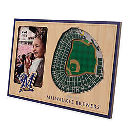 MLB Milwaukee Brewers 5-Layer StadiumViews 3D Wall Picture Frame