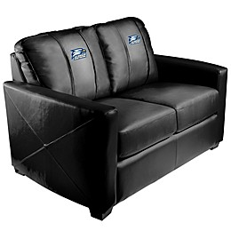 Georgia Southern University Silver Loveseat with Eagles Logo