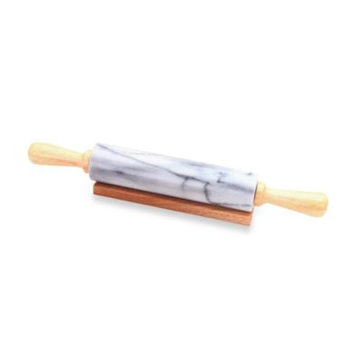 Deluxe Marble Rolling Pin In White Bed Bath Amp Beyond