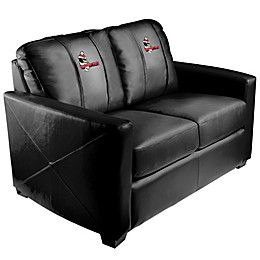 Youngstown State University Silver Loveseat with Pete Logo