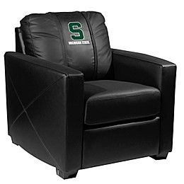 Michigan State University Silver Club Chair with Secondary Logo