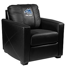Stony Brook University Silver Club Chair with Wolfie Logo