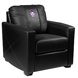 Northwestern State University Silver Club Chair with Demon Head Logo