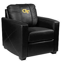 Georgia Tech Silver Club Chair with Block GT Logo
