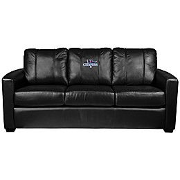 MLB Boston Red Sox Silver Sofa with 2013 World Series Champions Logo
