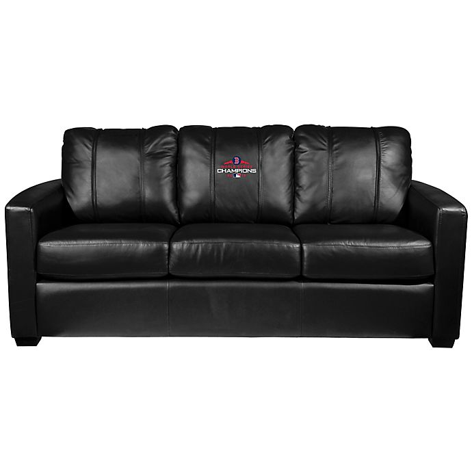 Alternate image 1 for MLB Boston Red Sox Silver Sofa with 2018 World Series Champions Logo