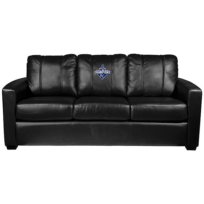 Alternate image 1 for MLB Kansas City Royals Silver Sofa with 2015 World Series Champions Logo