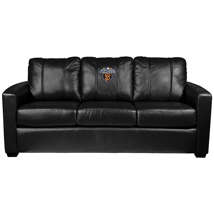 Alternate image 1 for MLB San Francisco Giants Silver Sofa with 2010 World Series Champions Logo