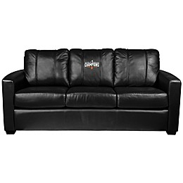 MLB San Francisco Giants Silver Sofa with 2014 World Series Champions Logo