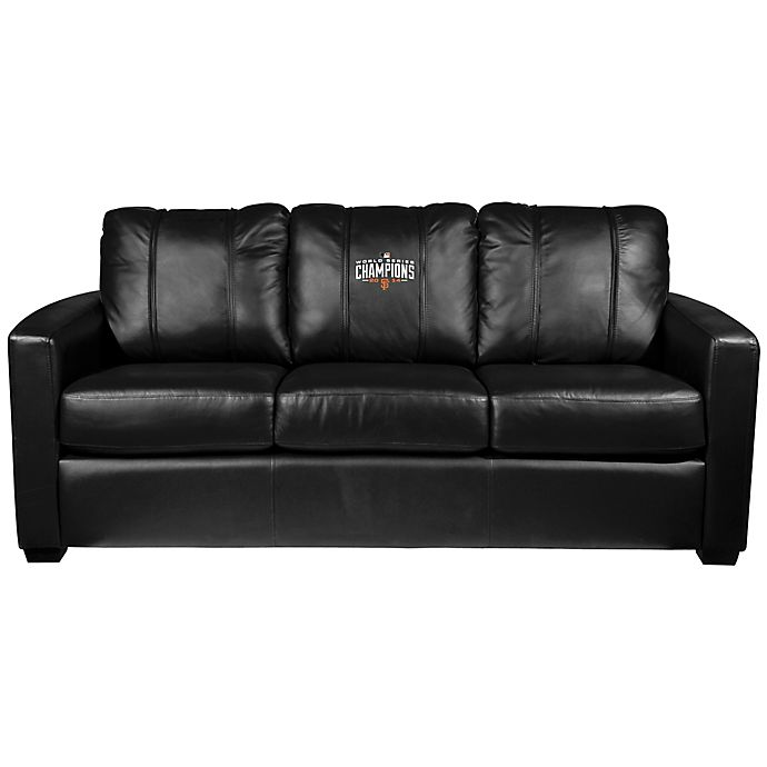 Alternate image 1 for MLB San Francisco Giants Silver Sofa with 2014 World Series Champions Logo