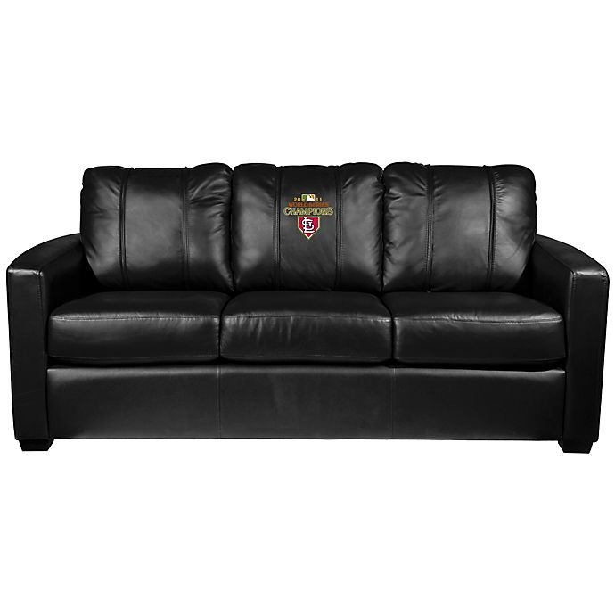 Alternate image 1 for MLB St. Louis Cardinals Silver Sofa with 2011 World Series Champions Logo