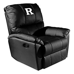 Rutgers University with White Logo Rocker Recliner