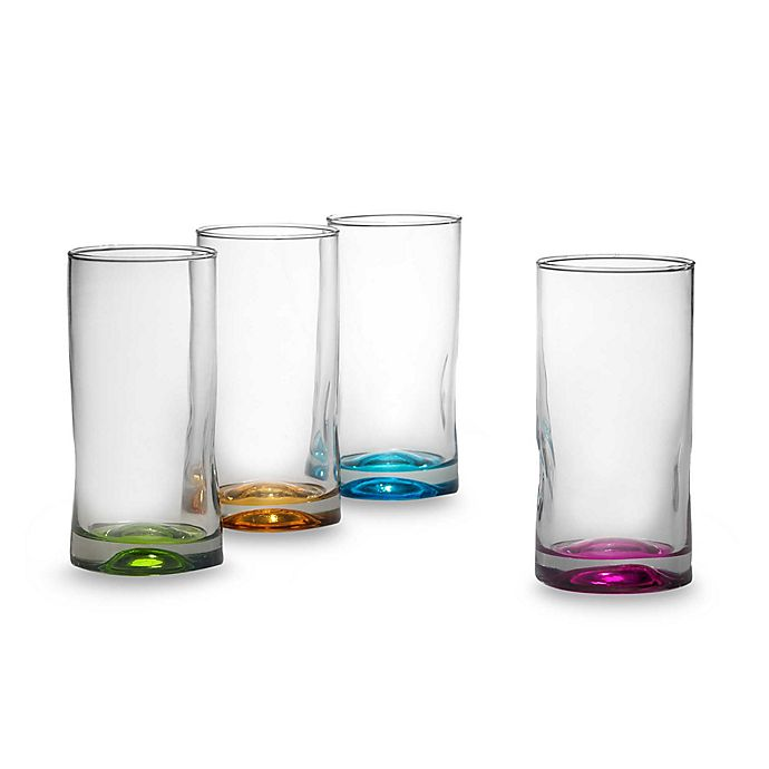 Alternate image 1 for Libbey® Impressions Highball Glasses in Assorted Colors (Set of 4)
