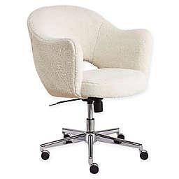 Serta® Polyester Swivel Valetta Office Chair in White