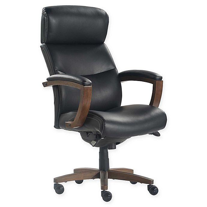 Alternate image 1 for La-z-boy® Faux Leather Swivel Greyson Office Chair in Black