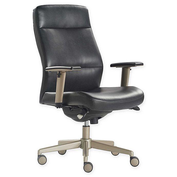 Alternate image 1 for La-z-boy® Faux Leather Swivel Baylor Office Chair in Black