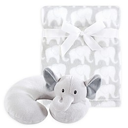 Hudson Baby® Grey Elephant Neck Pillow and Blanket Set