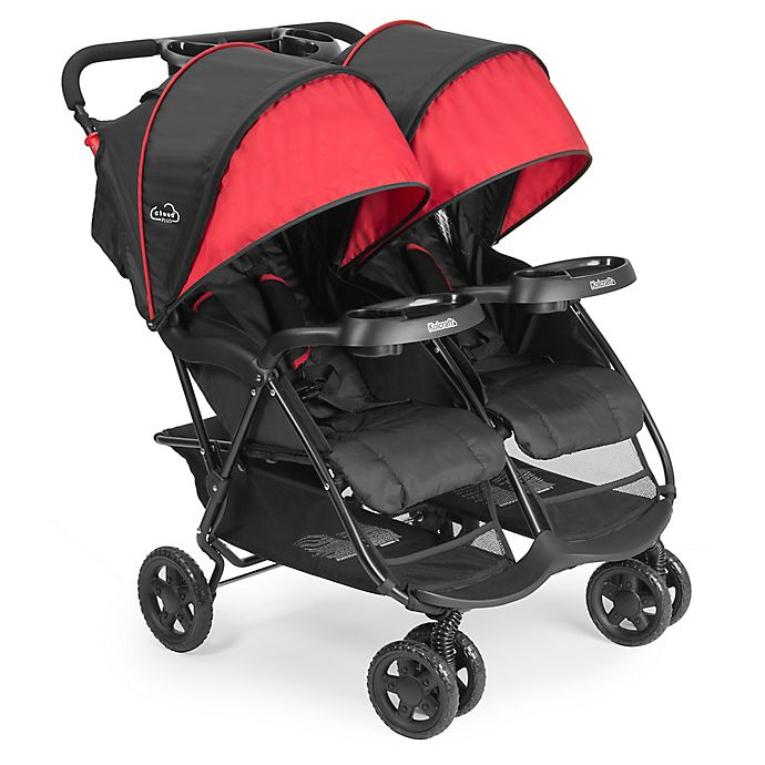 Alternate image 1 for Kolcraft® Cloud Plus Double Stroller in Black